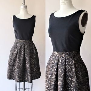 Tahari Dress, Black & Gold Brocade Skirt, Size 8